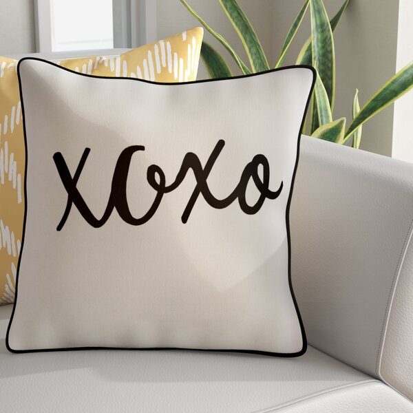 Carnell Hugs and Kisses Cotton Throw Pillow Cover by Mercury Row