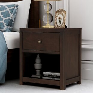 Hafeza 1 - Drawer Solid Wood Nightstand by Red Barrel Studio®