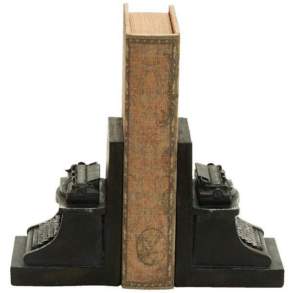 Old Look Typewriter Themed Book Ends (Set of 2) by Trent Austin Design