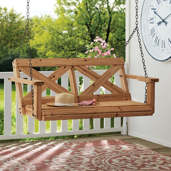 All Cedar Porch Swing by Backyard Discovery
