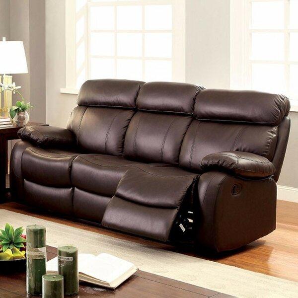 Cool Trendy Garbutt Top Grain Recliner Sofa by Red Barrel Studio by Red Barrel Studio