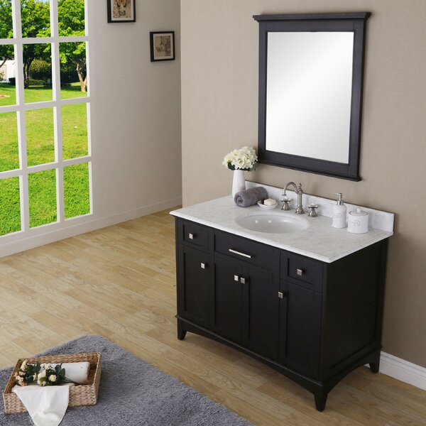 Paton 48 Single Bathroom Vanity Set with Mirror by dCOR design