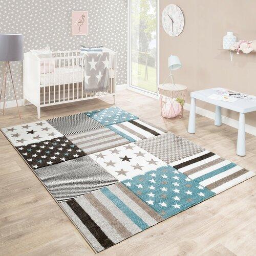 Teppich Hamby in Grau/Blau Isabelle & Max Teppichgröße: Quadratisch 133 cm | Heimtextilien > Teppiche > Sonstige-Teppiche | Isabelle & Max