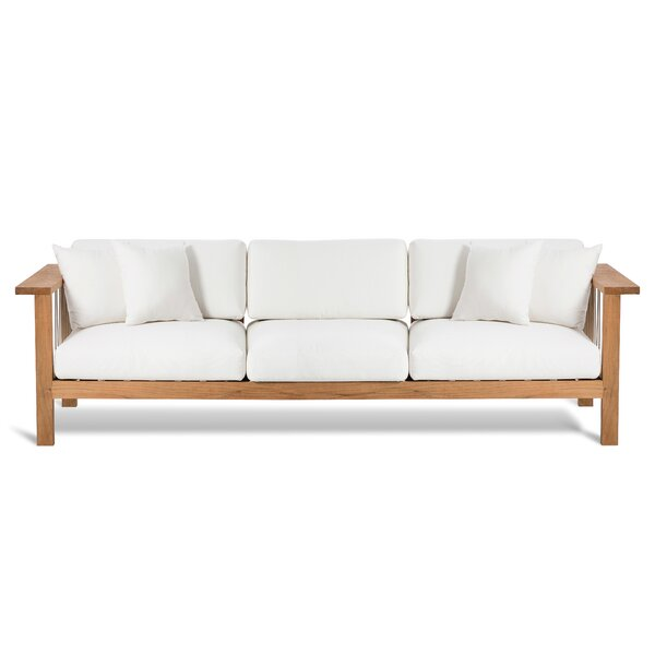 Maro Teak Patio Sofa with Sunbrella Cushions by OASIQ