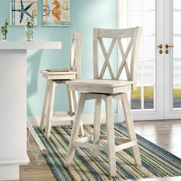 Saint Georges 41 Swivel Bar Stool by Rosecliff Heights
