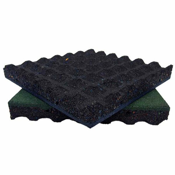 Eco-Safety Interlocking Playground Tile (Set of 4) by Rubber-Cal, Inc.