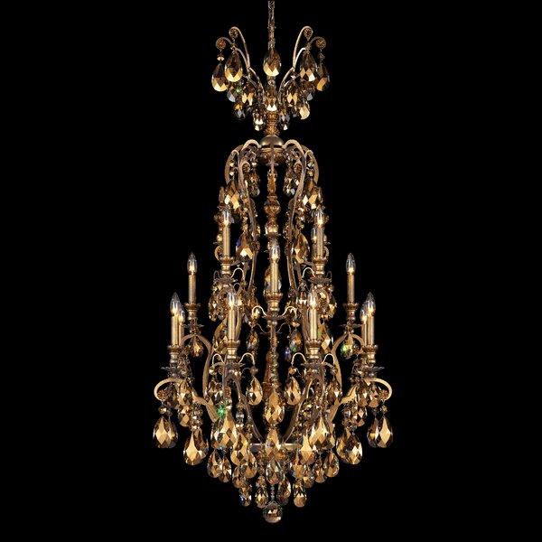 Renaissance 17-Light Candle Style Chandelier by Schonbek