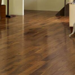 Character 4 Solid Walnut Hardwood Flooring In Brown Wood by Somerset Floors