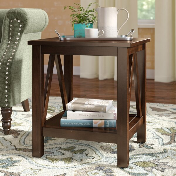 Brassiewood End Table by Three Posts