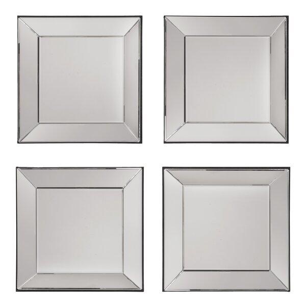 Erelina Decorative Square Wall Mirror (Set of 4) by Zipcode Design