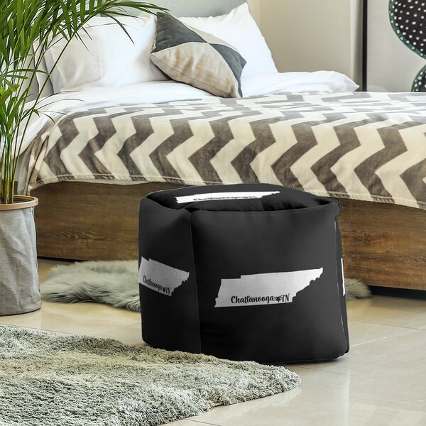 Chattanooga Tennessee Cube Ottoman by East Urban Home East Urban Home