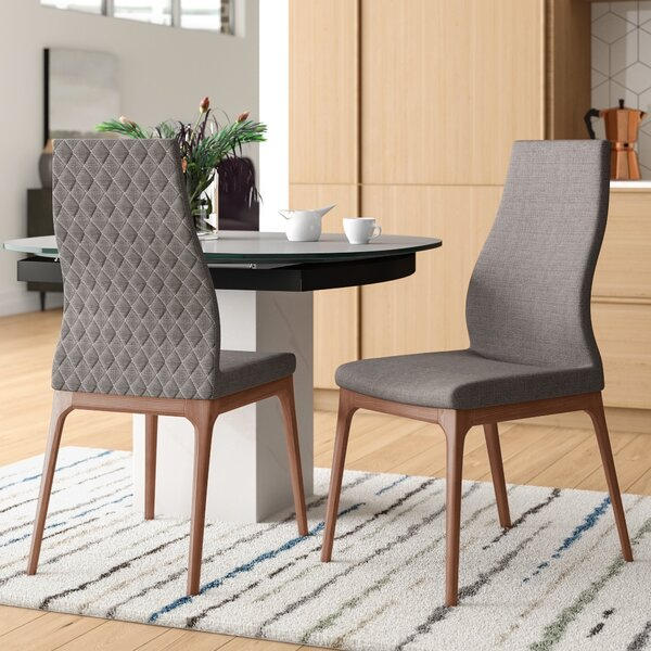 Maysonet Mid-Century Upholstered Dining Chair (Set of 2) by Mercury Row