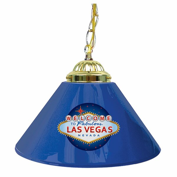 Welcome to Las Vegas 14 Single Shade Bar Lamp by Trademark Global