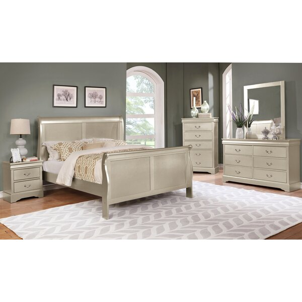 Fernwood Sleigh Bed by Charlton Home