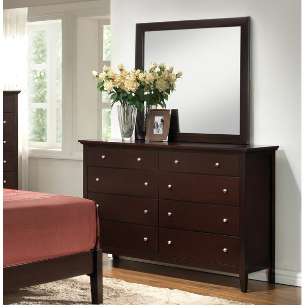 Maeve 8 Drawer Double Dresser with Mirror by Charlton Home Charlton Home