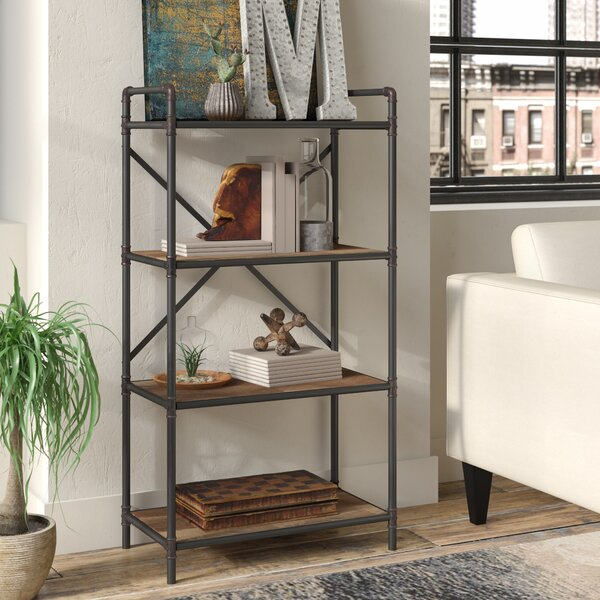 4 Tier Metal Pipe Etagere Bookcase by 17 Stories
