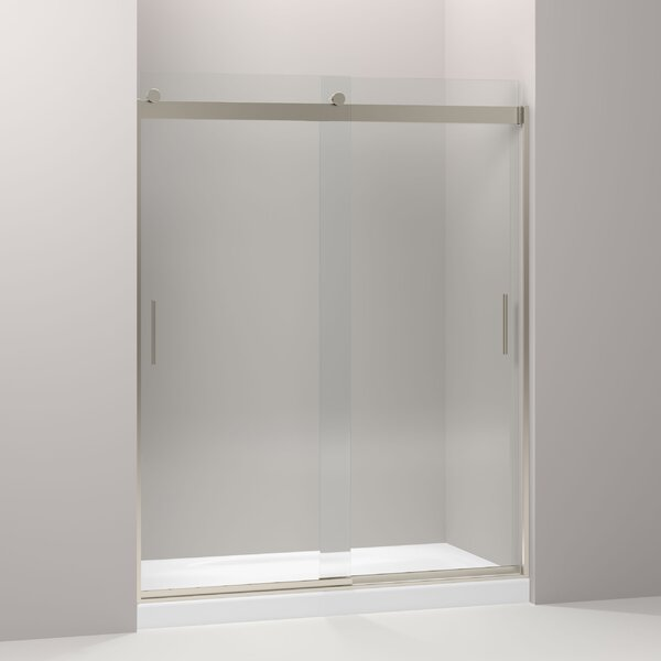 Levity 59.63 x 82 Double Sliding Shower Door with Blade Handles with CleanCoat® Technology by Kohler