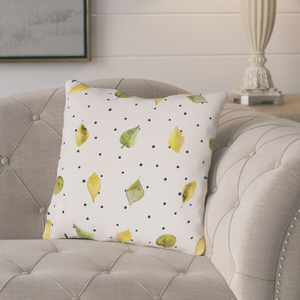 Porcaro Scattered Leaves Throw Pillow by Gracie Oaks