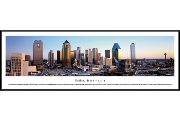 US Skyline Dallas, Texas-Series 2 by James Blakeway Framed Photographic Print by Blakeway Worldwide Panoramas, Inc