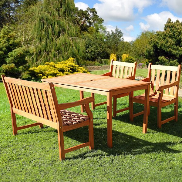 Verda 4-Piece Dining Set by Highland Dunes