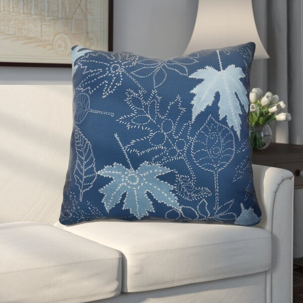 Miller Dotted Leaves Floral Euro Pillow by Alcott Hill