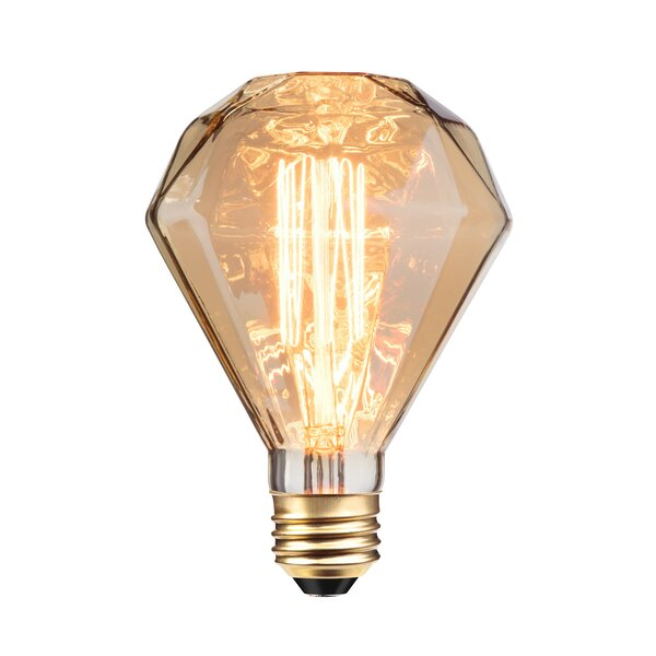 40W Amber E26/Medium Incandescent Light Bulb by Globe Electric Company