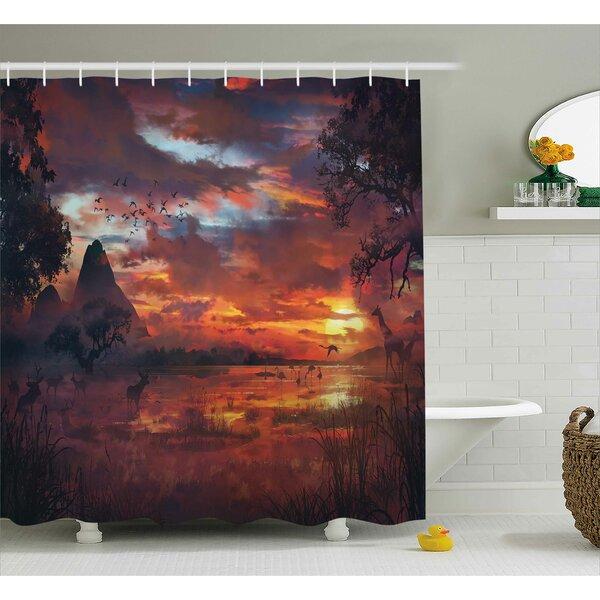 Avillion Safari Wild Forest Print Shower Curtain by Bloomsbury Market