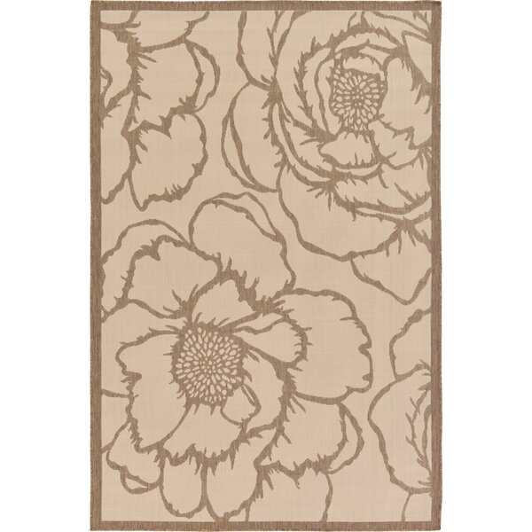 Souliere Beige Outdoor Area Rug by August Grove