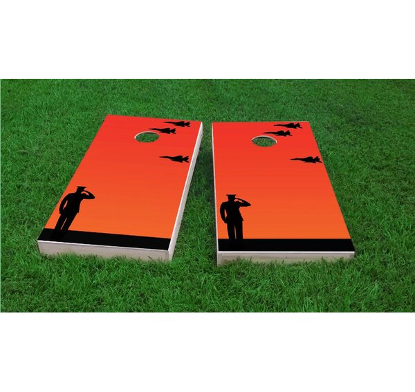 Missing Man Flight Formation Salute Cornhole Game Set by Custom Cornhole Boards