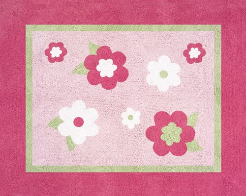 Flower Pink Area Rug by Sweet Jojo Designs