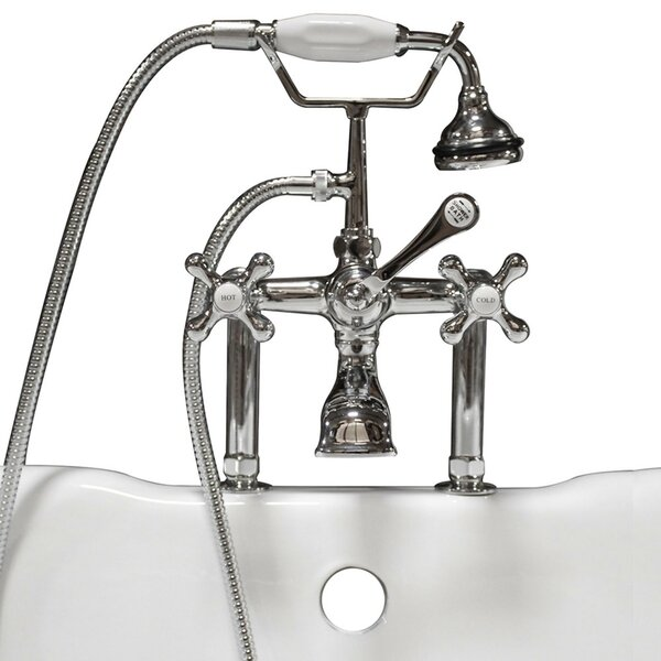 Triple Handle Deck Mounted Clawfoot Tub Faucet With Diverter And Handshower By Cambridge Plumbing