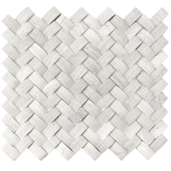 3D Braid 1 x 1 Wood Mosaic Tile in Gray by Luxsurface