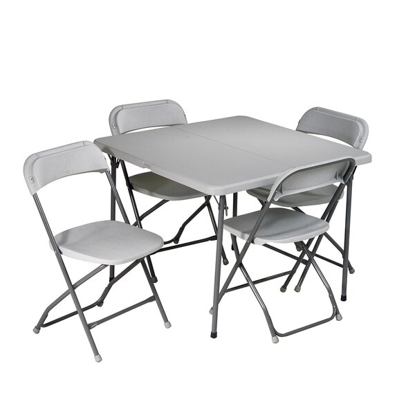 5 Piece 36 Square Folding Table Set by Office Star Products