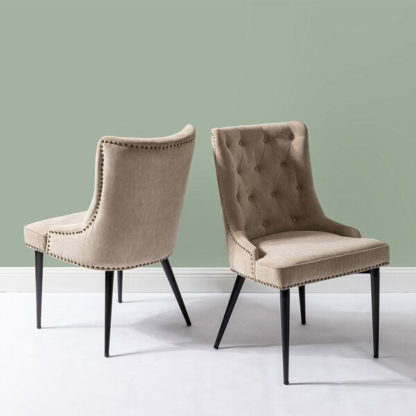 Penney Upholstered Dining Chair (Set of 2) by Everly Quinn Everly Quinn