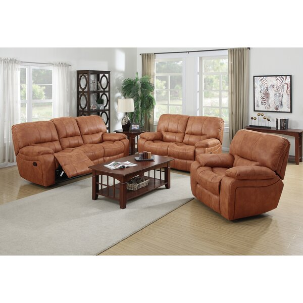 Agastya Reclining 3 Piece Living Room Set by Red Barrel Studio