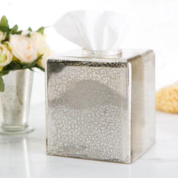 Mercury Glass Vanity Tissue Box Cover by Birch Lane™