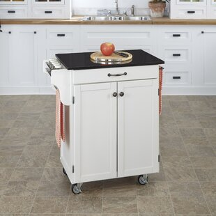 Budget Savorey Granite Top Kitchen Cart by August Grove