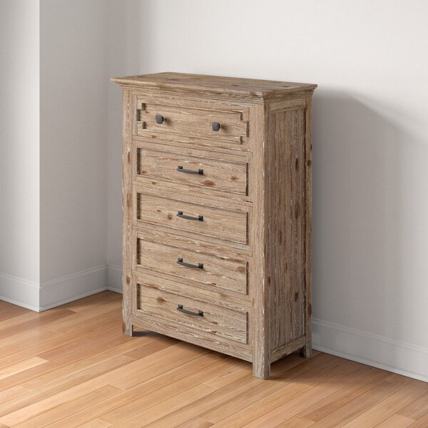 Tyne 5 Drawer Dresser by Three Posts