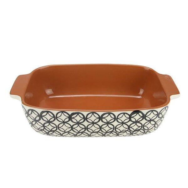 Basic Luxury Decorative Diamond Rectangular Terracotta Oven Baking Dish by Northlight Seasonal