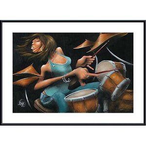 'Lola Beats' by David Garibaldi Framed Painting Print by Printfinders