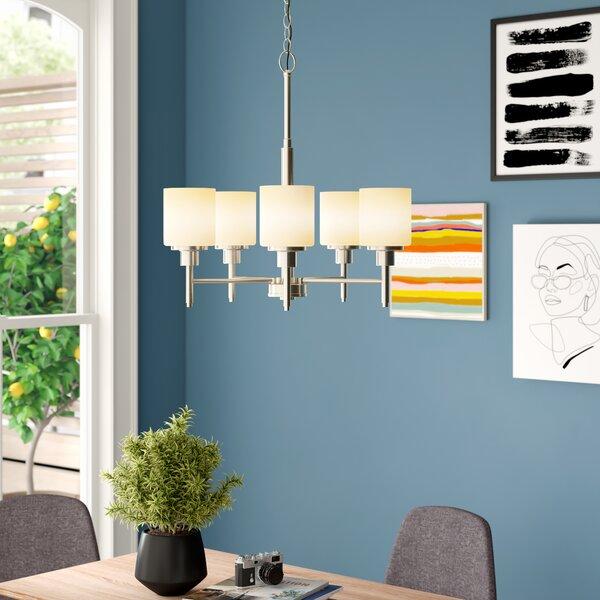 Buckleys 5-Light Shaded Linear Chandelier By Zipcode Design