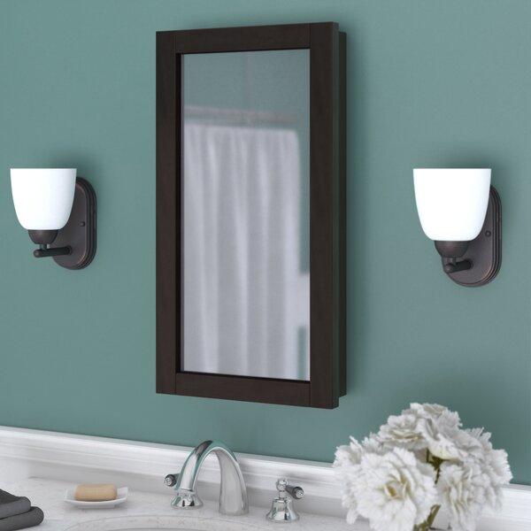 Searle Surface Mount Framed 1 Door Medicine Cabinet with 2 Adjustable Shelves