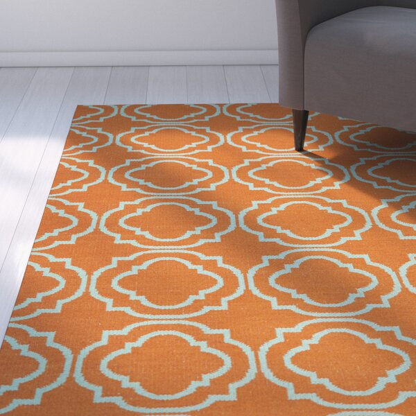 Aarti Orange/Teal Indoor/Outdoor Area Rug by Willa Arlo Interiors