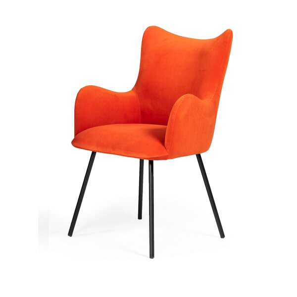 Sykes Upholstered Arm Chair in Orange by Latitude Run Latitude Run