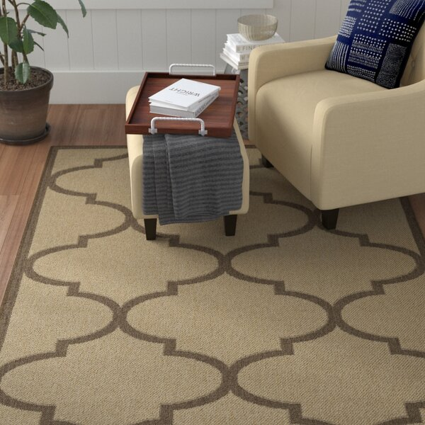 Emma Morroccan Trellis Power Loom Beige Indoor/Outdoor Area Rug by Winston Porter