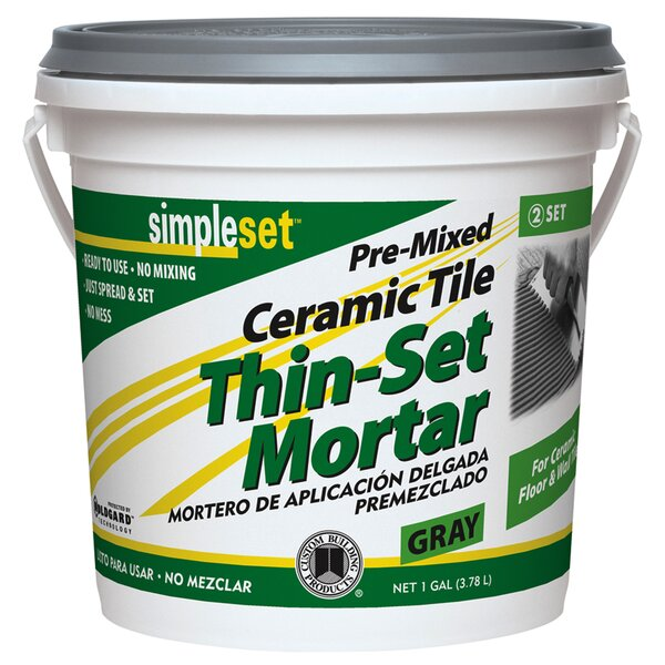 Premixed Tile Thin-Set Mortar 1 Gallon (Set of 2) by Custom Building Products