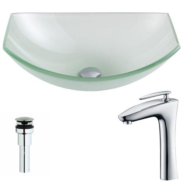 Pendant Vessel Bathroom Sink with Faucet