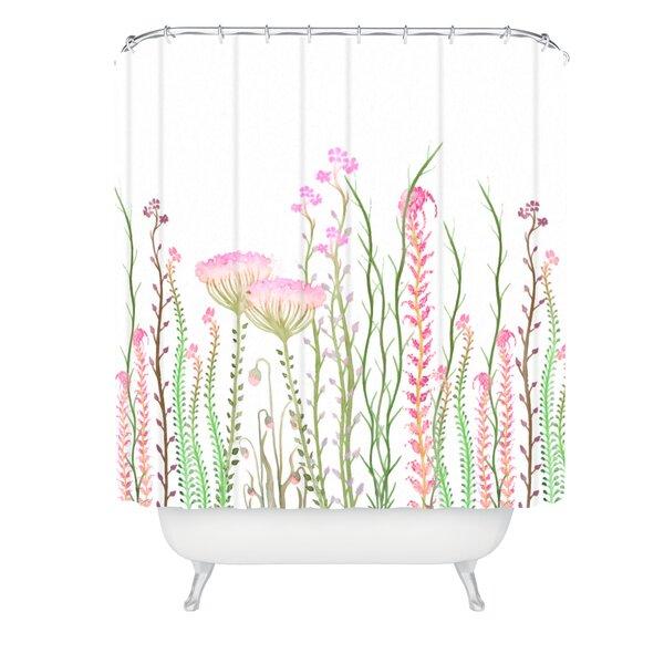 Monika Strigel Grasshoppers Paradise Shower Curtain by East Urban Home