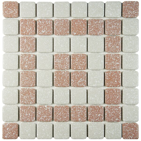 Minerva 1.3 x 1.3 Porcelain Mosaic Tile in Beige by EliteTile