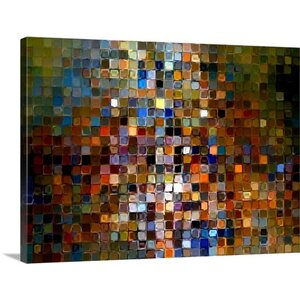 Tile Art #1 2007, Modern Mosaic by Mark Lawrence Graphic Art on Canvas by Printfinders